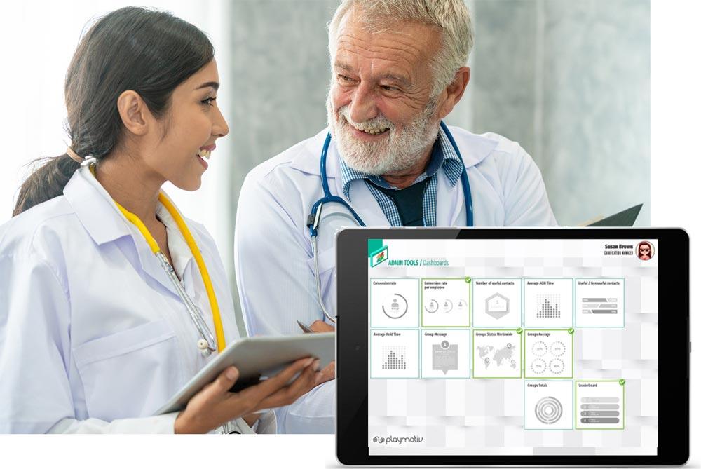 Gamificación para Healthcare - Mejores ventas y prescripciones - Playmotiv